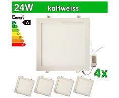 4 x Panel LED SMD 2835 LEDVero maikai 24 W cuadrado blanco frío de la lámpara luz de techo del punto