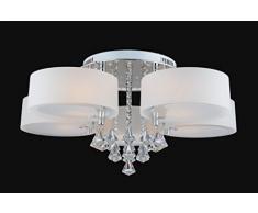 ALFRED® LED Moderno acrílico araña de cristal 5 luces (Chrome), de techo moderna Aplique de luz para, pasillo, dormitorio, sala de estar