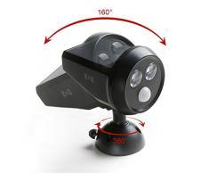 H&G Solar Foco LED para Exterior, Lámpara Solar con Sensor de Movimiento, Impermeable, Luminarias LED Solar de Pared para Iluminación Exterior, Jardín, Entrada, Patio, Pasillo, Porche...