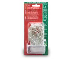 Konstsmide 1068-010 - Guirnalda LED para el árbol de navidad (20 diodos de blanco cálido, pilas 3 x AA de 1,5 V, hasta 30 h, cable transparente)