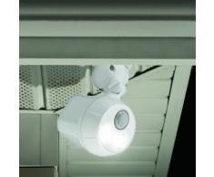 Mr Beams UltraBright - Foco LED inalámbrico a batería, impermeable, 300 lúmenes, sensor de movimiento, color blanco
