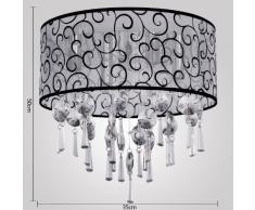 Lámpara de Techo Araña de Cristal de 4 Bombilla E14 Elegante para Salón