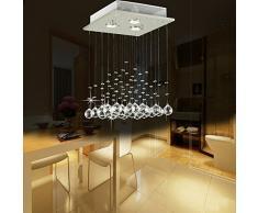PQP Moderno K9 Gota candelabro de cristal iluminación empotrada de techo LED Luz Lámpara colgante para Comedor Baño Dormitorio Dormitorio Dormitorio Salon Ancho 30 cm x altura 45 cm accesorios de iluminación