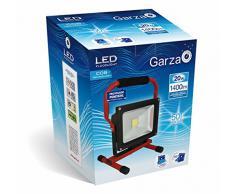 Garza Lighting - Foco proyector COB LED portátil para uso exterior, potencia 20W, luz neutra 4000K, protección IP65