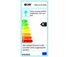Wofi 3006.01.64.9000 Twin - Lámpara de pie LED (ajuste de intensidad, 157 x 47 cm), color níquel mate
