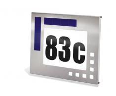 Esotec 102037 Design - Lámpara de pared solar con número de casa