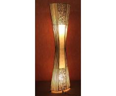 Lámpara de pie asiatica Yogya Nature (LA12-53) , Decoración luminosa de diseño Bali