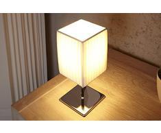 Mesilla de noche - y lámpara de mesa PETIT blanco/cromo