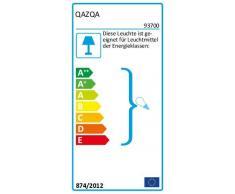 QAZQA rústico Lámpara de pie LADAS bronce con pantalla blanca Textil/Acero Alargada Adecuado para LED Max. 1 60 x Watt