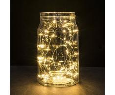 CMYK® 2x 3m/10Ft 30 LED Luz de hadas cadena Luces de Navidad decoracion (Blanco cálido)