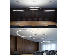 LightInTheBox - Alarma Caja Colgante lámpara LED, diseño moderno de anillo de Principal lámpara de techo Flush montaje, lámpara de techo Araña Iluminación para salón dormitorio comedor