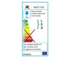 Reality Leuchten R42711101 - Lámpara de Pie con Brazo Flexible (Incluye Bombilla Smd-Led de 5 W, 240 Lm Y 3000 K, 150 cm de Alto), color blanco