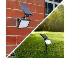 VastSean Foco Solar de 48 LED Lamparas Solares Focos para la Pared de Luz Solar LED Exterior para Jardin Casa Camino Escaleras Pared