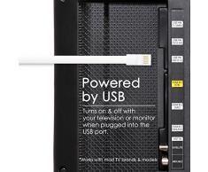 Luces de tira del LED del USB, brillo ajustable Luz de sol del TV del USB reversible, 3M Warm blanco LED tira del LED de la luz de fondo del sistema de iluminación Bias para HDTV, pantalla plana TV LCD, monitores de escritorio