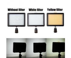 Andoer 160 LED de la lámpara del panel 12W 1280lm Dimmable para Canon Nikon Pentax DSLR Cámara de vídeo Videocámara