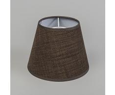 QAZQA Clásico/Antiguo, Rústico, Moderno Pantalla 20/15/12 SU cónica marrón, Redonda para Pantalla lámpara colgante