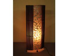 Lámpara de pie asiatica Penida Brown (LA12-64/BR), Decoración luminosa de diseño Bali