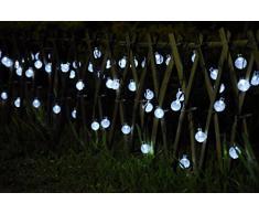 30s LED Solar jardín guirnalda de luces Globo Exterior Boda de Uping [Clase de eficiencia energética A]