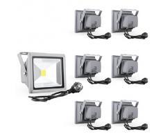 Reflectores del proyector luz de inundación de 20W LED lámpara de luz fría a prueba de agua luz de la pared al aire libre IP65 (7)