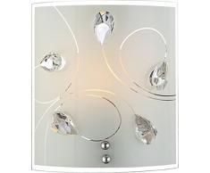 globo 40414-1W Alivia - Lámpara de pared (E27, 60 W, níquel mate)