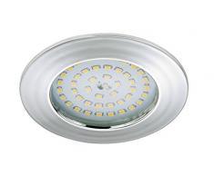 Briloner Leuchten luz LED empotrada, foco 5 W, apto para baño IP44, bombillas de bajo consumo, clase de eficiencia energética A +, cromo 7206-018