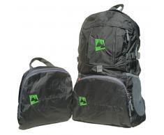 AdventureAustria Negro mochila de viaje 35L - plegable práctica con reflectores e perfecta para senderismo ciclismo viajes y actividades al aire libre