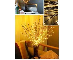 LED Bombilla de rama, winnes 20 ledes Luz ramas blanco cálido ramas decorativas LED filiales batería Alimentado por decorativa luces para Home Room Decor de blanco cálido, 5 unidades