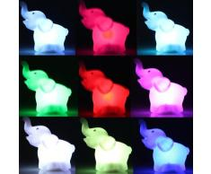 En luz nocturna LED con cambio de color lámpara diseño infantil diseño de ayuda