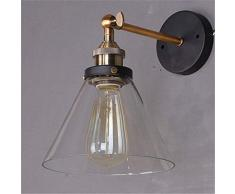 Glighone Apliques de Pared Lámpara Vintage Lámpara Industrial Bañadores de Pared Lámpara de Pared, No Viene Bombilla, Color Transparente