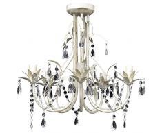 Lámpara colgante de cristal de techo Araña elegante 5 portalámparas