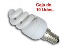 Lighted - Caja 10 bombillas bajo consumo extra mini 9w e14 luz cálida 2700k