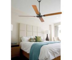 Faro Barcelona 33110 - MALVINAS Ventilador de techo sin luz, acero inyectado y palas de madera ply, color gris