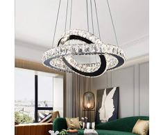 LED Cristal Colgante de luz Regulable Con control remoto Moderno Araña Luces Creativo Diseño Lámpara colgante Altura ajustable para Sala estar Mesa de comedorLuz Cocina Loft Dormitorio Estudiar