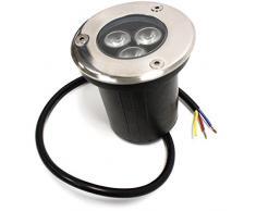 Cablematic Foco LED de suelo 3W 90mm luz azul