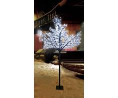 Spetebo - Árbol de luces led (200 ledes, 150 cm, para uso en interiores y exteriores, luz blanca fría)