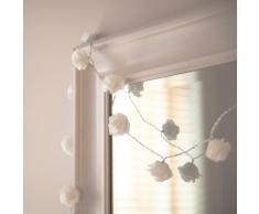 Guirnalda de 30 luces de LED de rosas blancas de Lights4fun