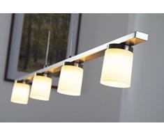 Lámpara colgante LED Monza regulable en intensidad 4x5 W