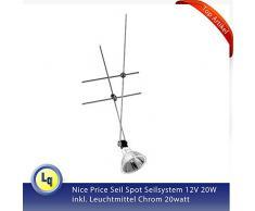 1883 Nice Price - Sistema de iluminación mediante cuerdas (20 W, 12 V, incluye bombilla cromo 20 W