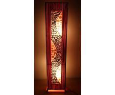 Lámpara de pie asiatica Ubud Red (LA12-70), Decoración luminosa de diseño Bali