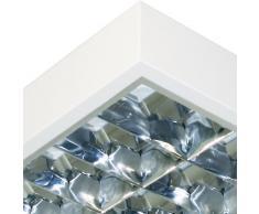 Luminaria fluorescente LED 1,20 M, 2-focos, BAP-cuadrícula