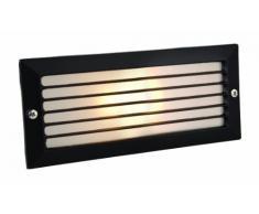 Firstlight - Lámpara empotrada en pared para exteriores (40 W, E27 Ip54, cristal translúcido), color negro