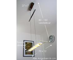Lámpara colgante LED Malef regulable en intensidad