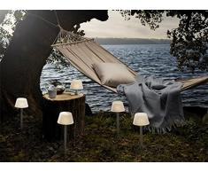 Eva Solo 571338aluminio, blanco lámpara de mesa–lámparas de mesa (aluminio, color blanco, Aluminio, Vidrio, Patio, jardín, Henrik Holbaek, color blanco, recargable)