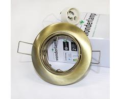 Wonderlamp W-E000030 Basic Basic - Foco empotrable redondo fijo, color oro viejo [Clase de eficiencia energética A+]