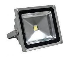 Faro led proyector alto brillo impermeable 10w ip65 luz cálida mws