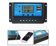 Paneles de 10 amperios Solar controlador de carga de la batería, temporizador 12 V 24 V regulador de carga inteligente para LED iluminación de calle o Home sistema Solar