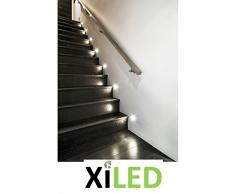 Sola LED AC de WW Kanlux 23804 - Lámpara LED de pared empotrable para interruptor de 60 mm (Acero Spot Lámpara decorativa Escaleras Luz Empotrable (Nivel - Foco de Luz (sola AC Blanco Cálido), 220 - 240 V, incl. LED de transformador