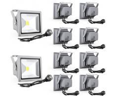 Reflectores del proyector luz de inundación de 20W LED lámpara de luz fría a prueba de agua luz de la pared al aire libre IP65 (10)