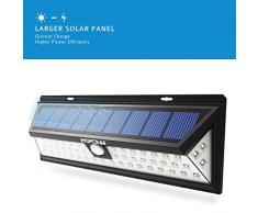54 LEDs Lámparas Solares Mpow de Foco Solares LED 800lm,Impermeable Energía con Sensor de Movimiento 3-8m,Luz Solares de Seguridad,Focos Luz Paredes, Luz Solar Exterior para Jardín, Terraza, Garaje, Camino de Entrada, Iluminacion Exteriores