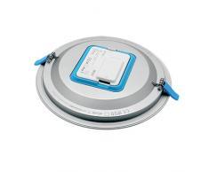 Prilux silver led - Luminaria kona 23w 840 225mm ac180-250v niquel